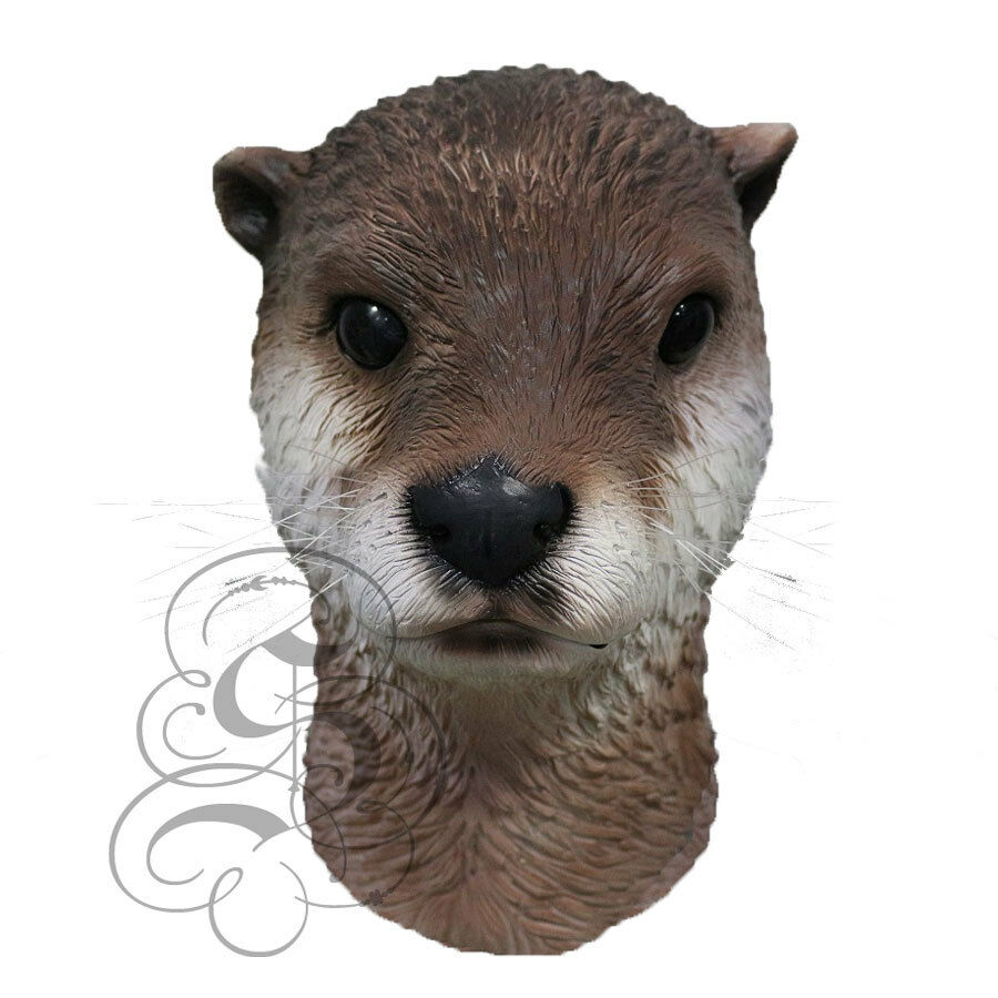 Latex Popular Realistic Animal Head Aquatic Otter Baboon Props Fancy Dress Masks