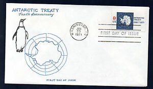 1431-Antarctic-Treaty-First-Day-cover-with-Virgil-Crow-cachet