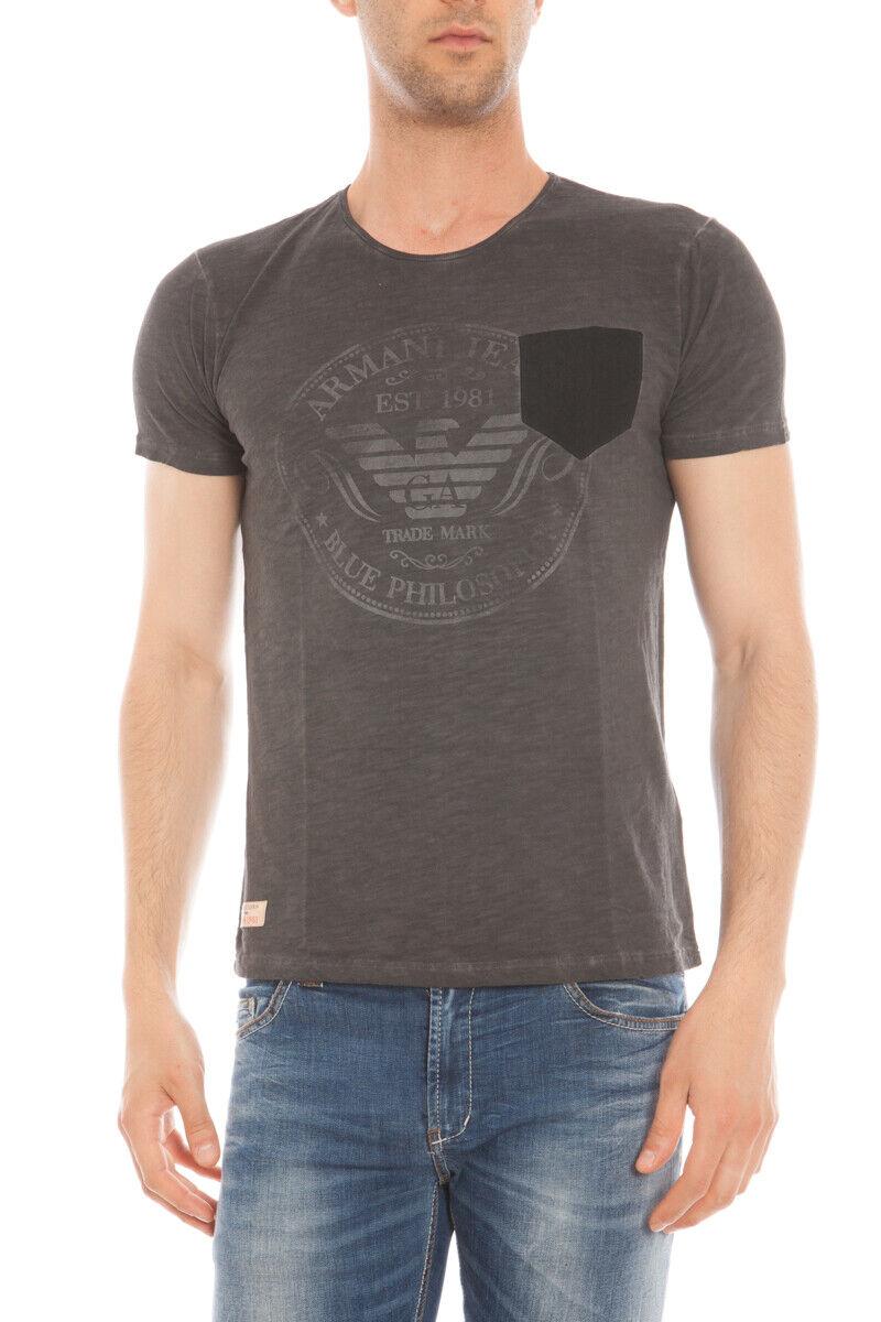 T hemd Maglietta Armani Jeans AJ schweißhemd REGULAR FIT herren grau A6H18NS 20