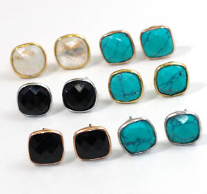 Rainbow-Moonstone-Stud-Gemstone-Post-Earring-925-Sterling-Silver-Jewelry-ME1727
