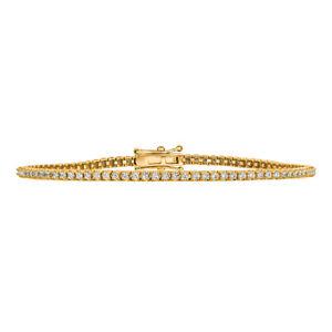 1-00-Karat-Natuerlicher-Diamant-Tennis-Armband-G-SI-14k-Gelbgold-7-034