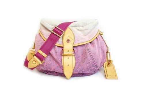 Louis Vuitton Pink Denim Shoulder Bag