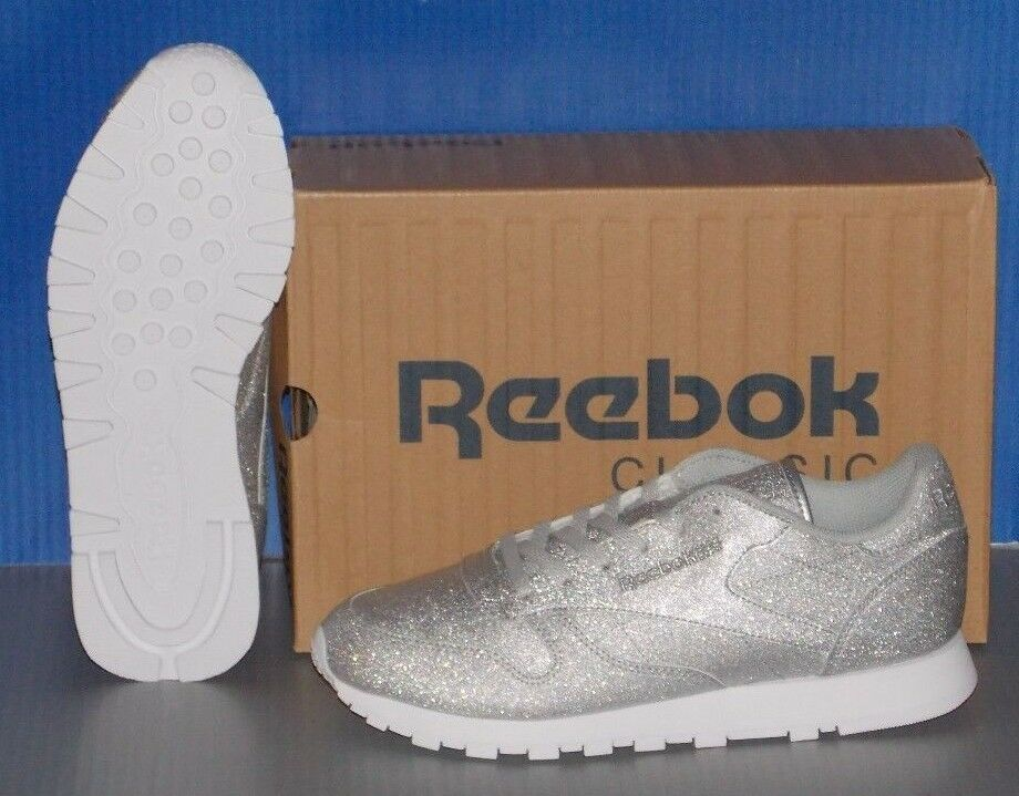 Damenschuhe REEBOK CL LTHR SYN in colors DIAMOND GREY SILVER / GREY DIAMOND / Weiß SIZE 7.5 7dcad6