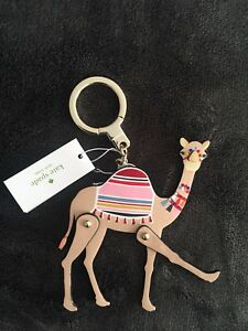 Image is loading Kate-Spade-Keychain-Leather-Camel-Bag-Charm-Key- c9819fb3a