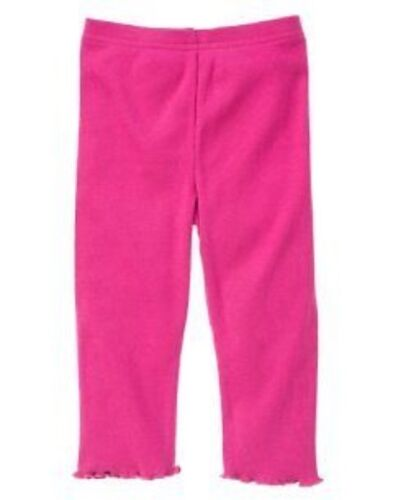 GYMBOREE ALL ABOUT BUTTONS DARK PINK BASIC LEGGINGS 3 6 12 18 NWT