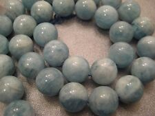 Chinese Aquamarine Round 12mm Beads 33pcs