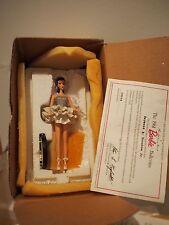 NIB Vintage Danbury Mint 1996 Mattel BARBIE Figurine COA 1961 BALLERINA