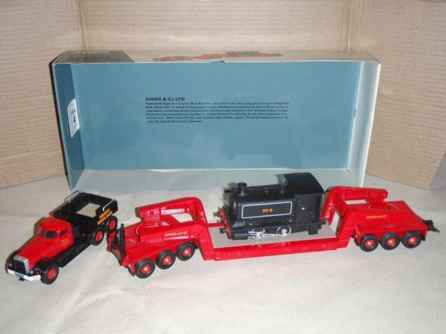 DIAMOND T BALLAST WITH GIRDER TRAILER E LOCOMTIVE LOAD Corgi Toys ROSSO 1:50