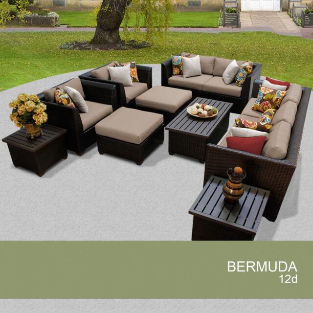 Wondrous Bermuda 12 Piece Outdoor Wicker Patio Furniture Set 12D Machost Co Dining Chair Design Ideas Machostcouk
