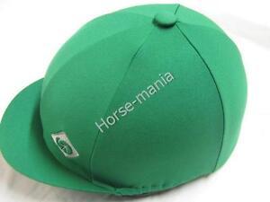 """Charles Owen Mid Vert Équitation Chapeau Couverture en soie pour Jockey caps jusqu'à 2 1-2""""-afficher le titre d`origine IUPpWAr1-07165327-702821111"""