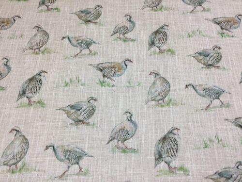 Clarke and Clarke PARTRIDGE   Linen Blend Fabric Curtains// Roman Blinds//Cushions