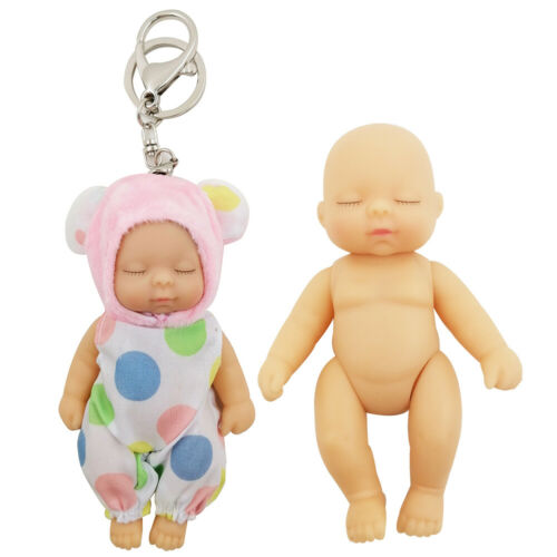 1//12 Keychain Sleeping Baby BJD SD Doll Clothes 5 jointed dolls movable Gift