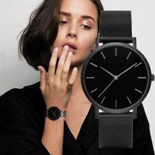 Reloj de Pulsera Nueva Moda de Lujo para Mujer de Cuero Banda Analógico a Cuarzo de Acero Inoxidable