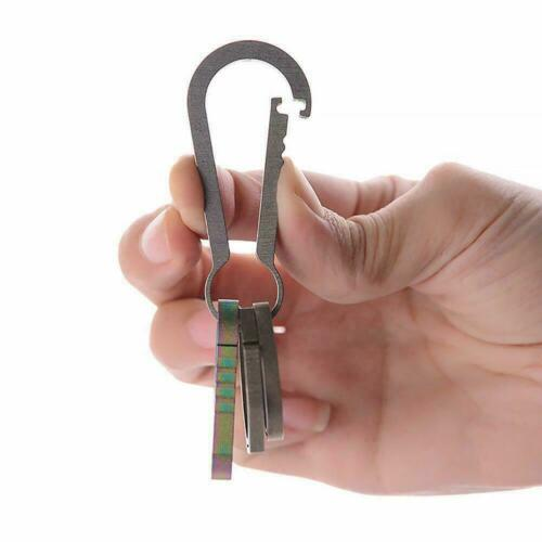 Titanium Alloy Outdoor Camping Carabiner Keychain Hanging Snap Buckle Hook T6O9