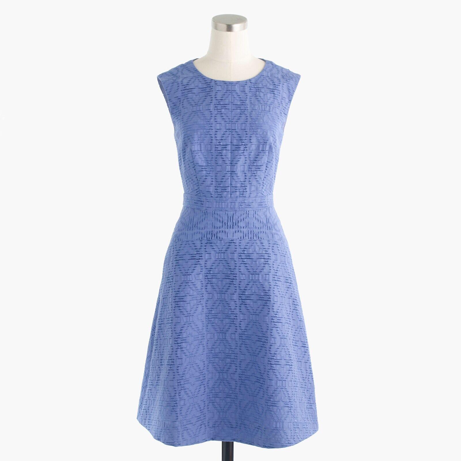 Vestido  nuevo con etiquetas Jcrew con textura Ojal Jacquard en azul claro talla 00  las mejores marcas venden barato