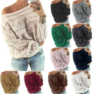 Womens-Baggy-Knitted-Long-Sleeve-Sweater-Lady-Loose-Casual-Jumper-Pullover-Tops