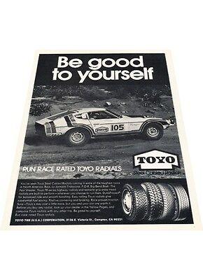 Vintage Advertisement Car Print Ad J397 1974 Datsun 260Z Toyo Tires 240Z