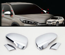 LED Chrome Side Mirror Cover Garnish Molding 4p For 2016 Hyundai Tucson