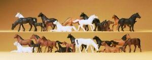 Preiser-14407-Horses-26-Figurines-H0
