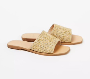 Womens Sliders Flat Shoes Extra Wide