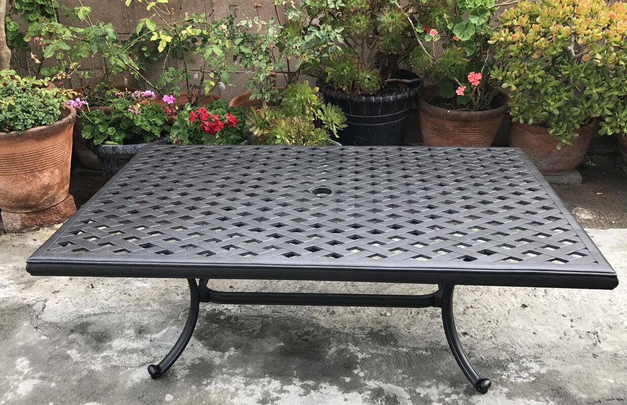 Buy Outdoor Coffee Table Cast Aluminum Rectangular Porch Patio