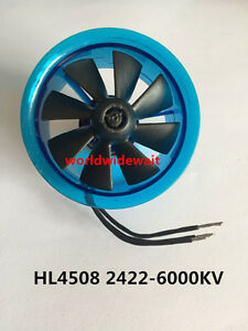 Details about New HL4508 2422 6000KV Motor EDF 45mm Ducted Fan for RC  Aircraft Airplane