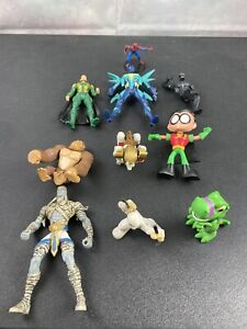 Lot-Of-10-Mixed-Action-Figures-Spiderman-And-Others