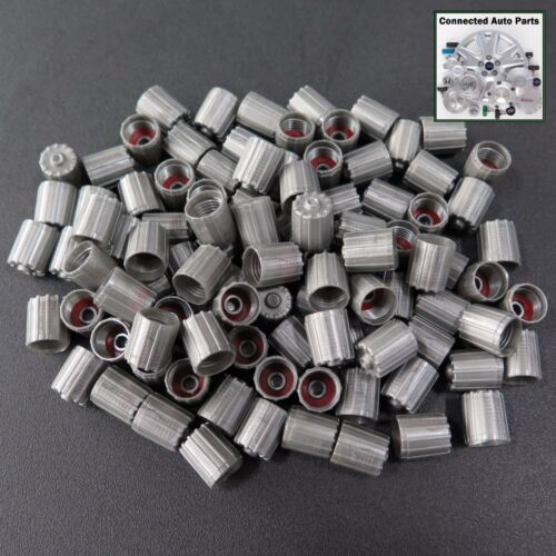 NEW 100 ea WHEEL TIRE VALVE STEM CAPS COVERS SENSOR TPMS gray bulk lot VC-VW01