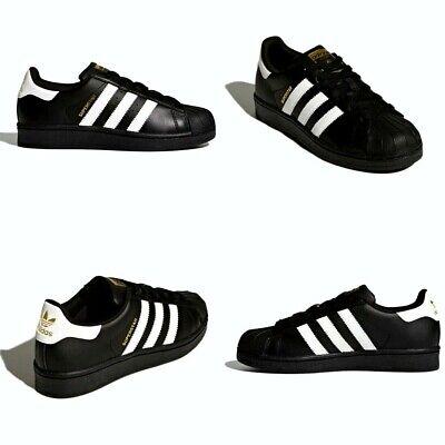 Adidas Youth Original Superstar J Leather Black White Kids Size 6 NIB B23642 888164818118 | eBay