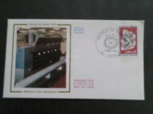 FRANCE-1974-FDC-1-JOUR-JOURNEE-TIMBRE-MACHINE-POSTALE-A-TRIER-VF