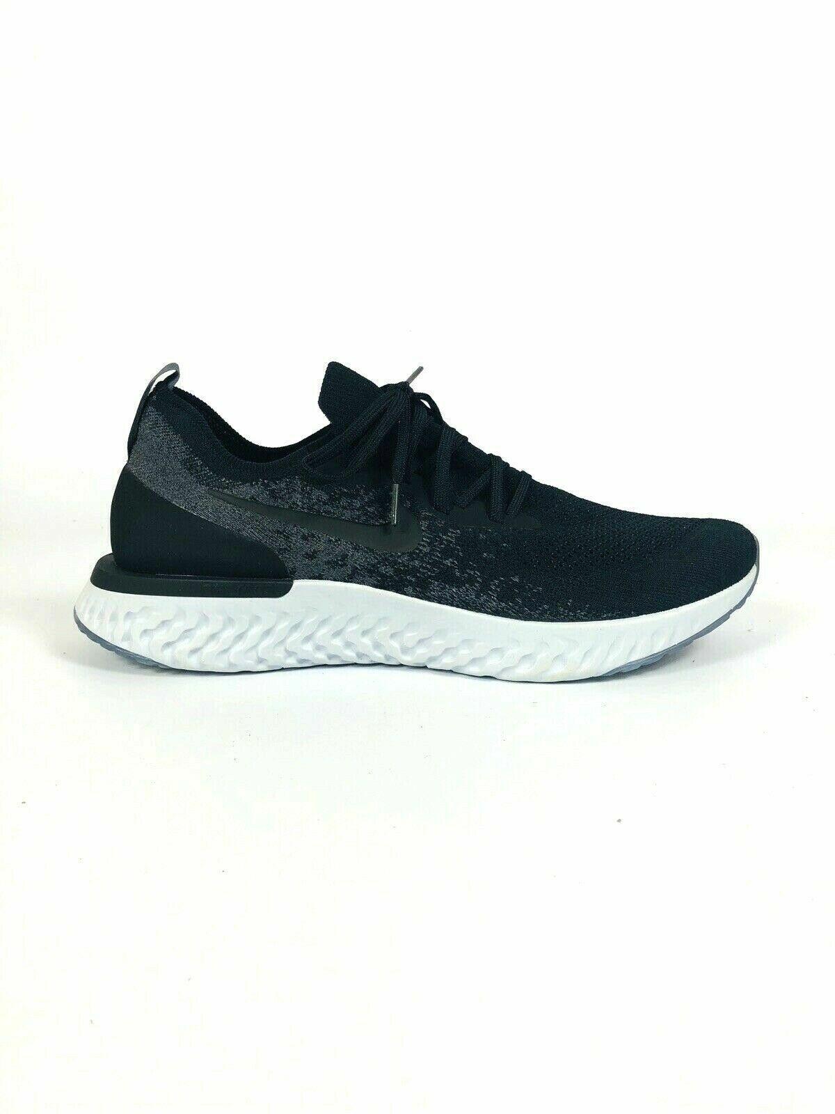 Nike Men Epic React Flyknit  Black Dark Grey'shoes Sneaker AQ0067 001 O32219  NEW
