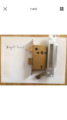 """FIVE LEVER SASHLOCK 2.5/"""" Nickel Bathroom Bedroom Front Side Back Door Gate Lock"""