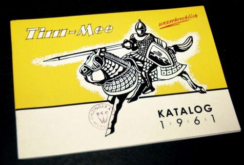 TIM MEE KATALOG LISTE 1961 Fahrzeuge Ritter Indianer Soldaten Farm Figuren RAR