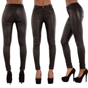 Women/'s PU Faux Leather Look Skinny Trousers Size UK 6-20 UK Seller Fast Post