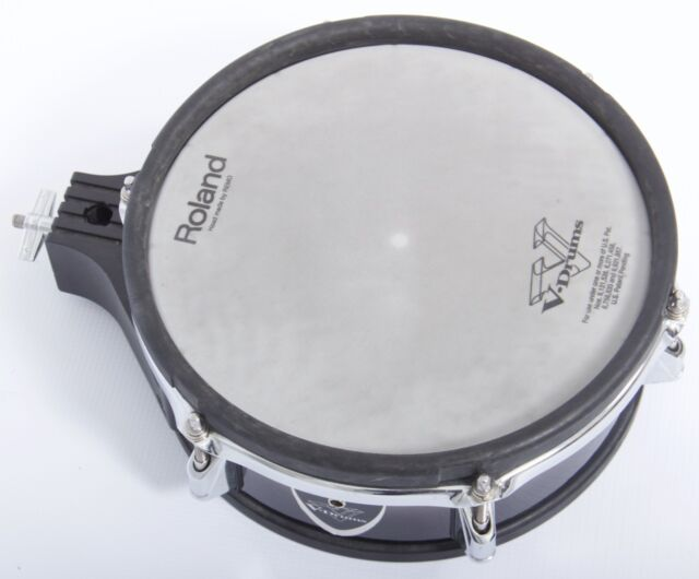 """Roland PD-105BK 10""""Dual Trigger Mesh Electronic Drum Pad In Black Fade"""