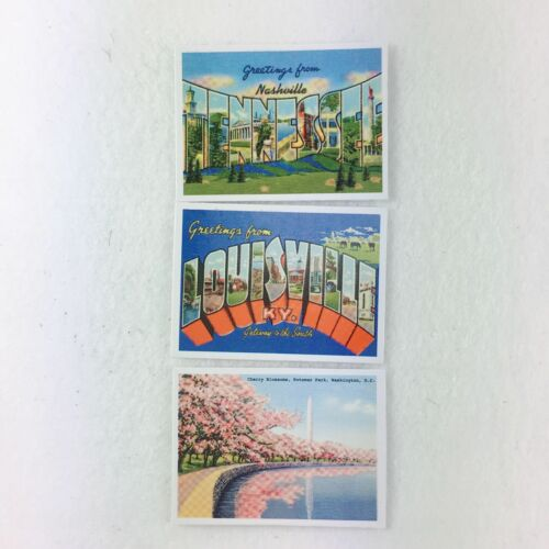 "3pcs American Girl Postcards from MELODY TRAVEL ESSENTIALS for 18/"" Dolls"
