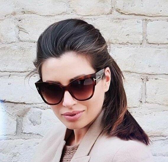 3aa3b404b34 Tom Ford Anoushka TF 371 53f Havana Cat Eye Sunglasses for sale online