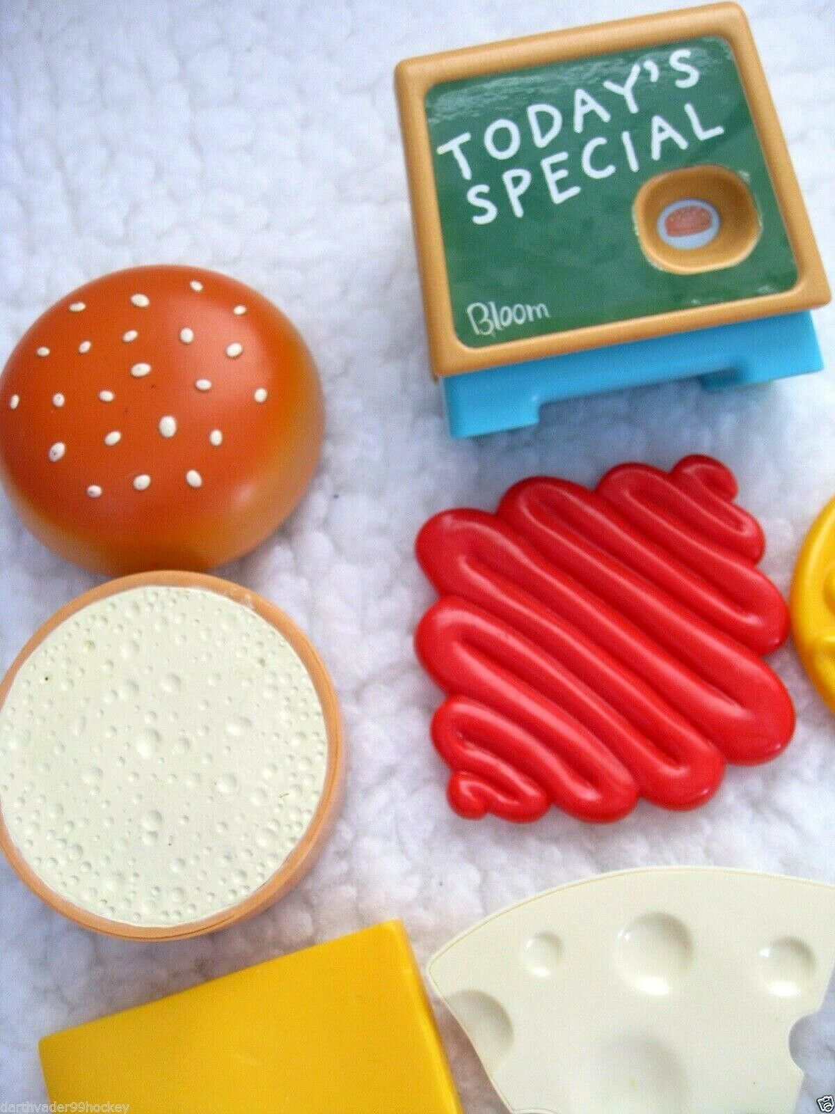 GIANT CHUNKY FOOD PLAY ● BUILD BUILD BUILD A BURGER TIKES FISHER PRICE BACON CHEESE ● RARE 8072f0
