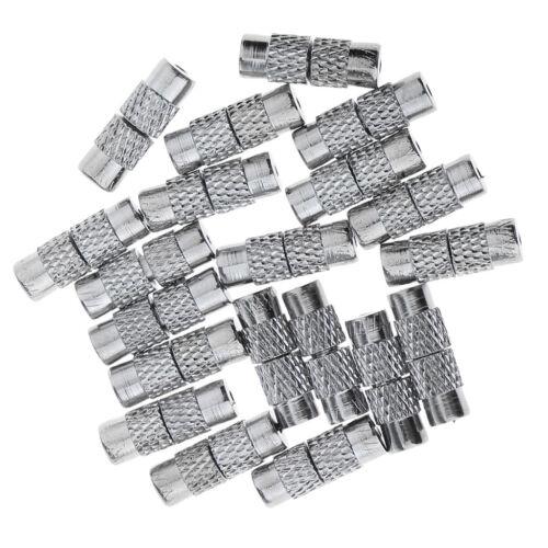 20 X Silver Tone Metal Necklace Bracelet Screw Barrel Clasp Jewelry Making