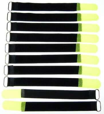 10x Kabelklett Klettband 200 X 20 Mm Neon Gelb Öse Klett Kabelbinder Klettbänder Hot Sale 50-70% OFF Fishing Stage Lighting & Effects