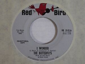 The-Butterflys-I-Wonder-Gee-Baby-Gee-ORIG-1964-Red-Bird-PROMO-45-NEAR-MINT-NOS