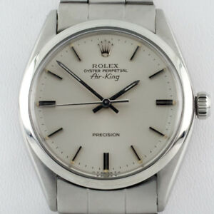 Rolex-Air-King-Oyster-Perpetual-SS-Men-039-s-Automatic-Watch-5500-1979