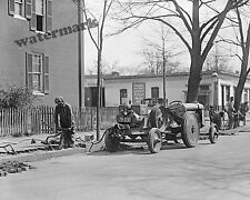 Photograph  Vintage Ford Tractor Used in Road Repair  Year 1925   8x10