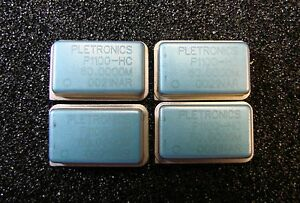 PLETRONICS-Oscillator-60MHz-5V-CMOS-P1100-HC60-0000MHz-DIP-14-Qty-4