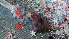 glitter mix acrylic gel nail art  AMERICA THE BEAUTIFUL 4th of July mix