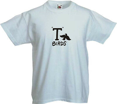 Grease T Birds Kids T Shirt Assorted Colours Sizes