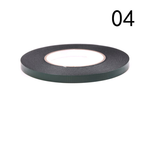 6-60mm*10m Strong Waterproof Adhesive Double Sided Foam Black Tape For Car RU