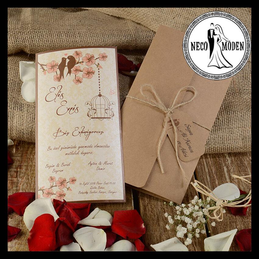 Dügün Davetiye Hochzeitskarten Einladung zur Hochzeits Einladungskarten Kina Söz | Düsseldorf Online Shop  | Praktisch Und Wirtschaftlich
