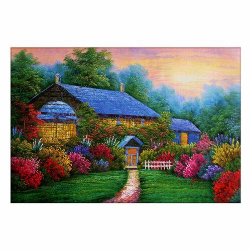 2020 5D DIY Full Drill Round Diamond Painting Scenery Cross Stitch Mosaic Craft