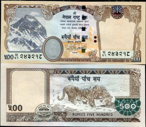 NEPAL 500 RUPEES P 66 UNC W//PIN HOLES